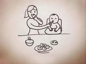 目送孩子简笔画