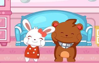 兔小贝六一儿歌 洋娃娃和小熊跳舞