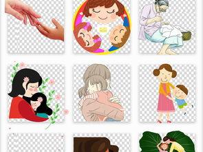 ...通手绘母亲节母温馨亲情五月海报背景PNG素材图片 模板下载 32.21...