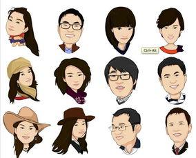 Q版漫画 QQ头像 人物形象可爱卡通设计 照片转手绘画像 情侣礼物