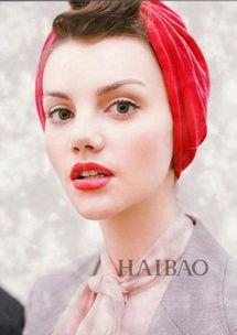 欧美老电影范儿包头巾发型-天冷了丑的人还在带帽子 美的人早已丝巾...
