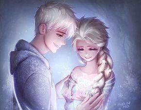 求艾莎和杰克冻人在一起的图片 要原版人物 高清图片 可以做手机壁纸的