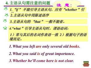 英语语法讲解 从句的知识