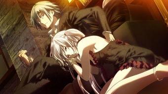 白发红眼的动漫少女舔男主手臂上的血,男主戴着手铐,请问这是什么...