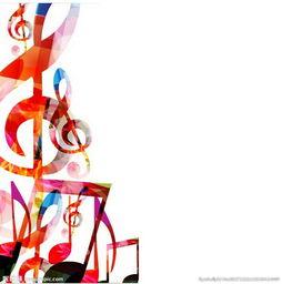 乐器与音符图片