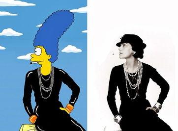 可可·香奈儿插图的玛姬辛普森AleXsandro帕隆博-玛姬辛普森是否时尚