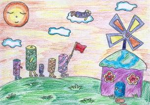 保护环境图片画素描-中国儿童环保画之丹麦制造