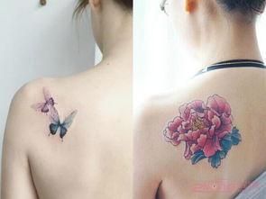 精致唯美的女生锁骨纹身图案图片 第2页