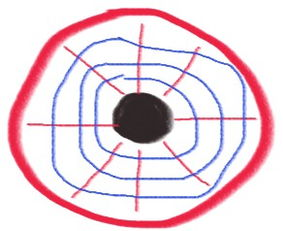 类似镜子的反射效应,卫星天线采用一块独立的类似锅盖形状的金属板...