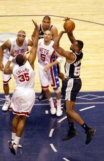 2003年6月14日,NBA总决赛第五场比赛在网队主场进行.-总决赛 网...