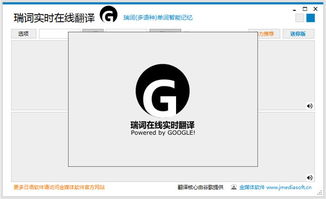 最新中英文翻译器下载 瑞词 Google实时在线翻译3.0绿色版 系统之家