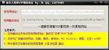 ...各大视频VIP播放地址 V1.0 绿色免费版下载 9553下载