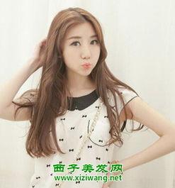 韩式女生中长发烫发发型