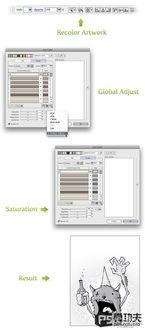 方法四、重新着色图稿-Illustrator彩色图像转灰度的几种方法 2