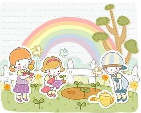 ...卡通图片大全 我们一起去植树