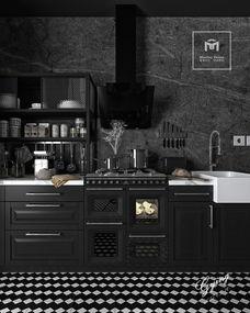 高级灰厨房一角