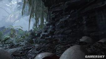 ,玩家位于一堆恐龙蛋中,先是看到一只小恐龙
