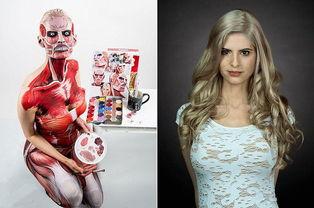 高超化妆变漫画人 3D变2D Kay Pike高超化妆变漫画人