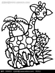 剪纸艺术植物前的梅花鹿图片免费下载 编号1906913 红动网