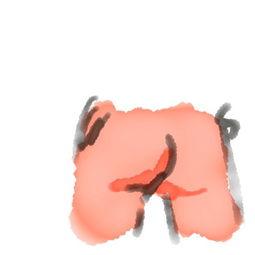 ...其发到社交网站Tumblr上.-美男子新年计划 每日完成一幅臀部画作