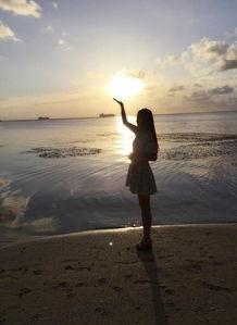 海天一色碧海云天,终于来到塞班岛了美人看美景不亦乐乎