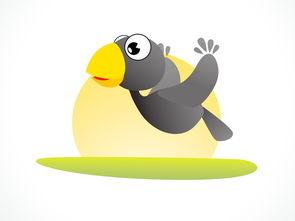 表情 卡通乌鸦 乌鸦喝水背景 就要健康网 表情