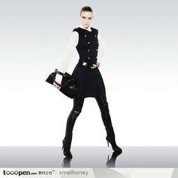 火辣辣的漂亮美女模特图片素材 拿着包包去想去逛街
