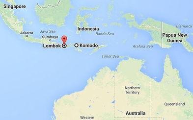 ...(Lombok and the Komodo Islands) 照片:谷歌地图-印尼发生沉船...