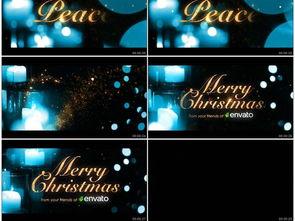 动感圣诞节新年祝福logo片头AE模板素材 高清MP4格式下载 视频1,...