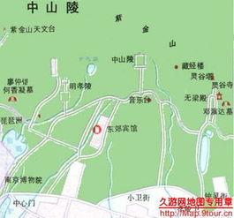 南京总统府游览地图