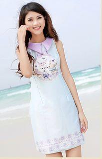 穿白裙子的菇凉如仙女般美丽