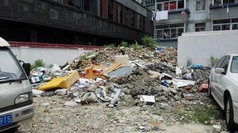 ...高,和小区仅隔一堵墙-停车场垃圾成山半年无人清理 还紧挨着居民区