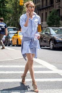 ...衬衫长裙+裸色高跟系带凉鞋-游走在美与丑之间的lace up shoes