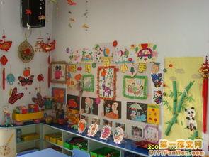 幼儿园活动室布置图片 艺术墙饰图片