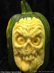 世界上最恐怖的花-美国艺术家雕刻惊悚南瓜 将赴他国办展览
