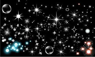 黑白背景梦幻星空矢量素材下载