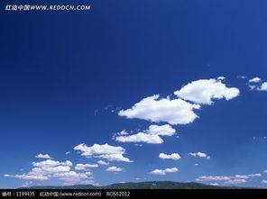 碧蓝的天空飘着的云朵图片免费下载 编号1199435 红动网