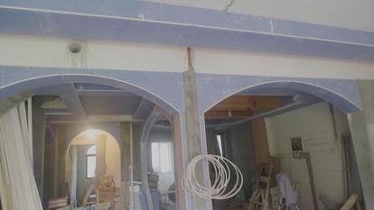 ...贴瓷砖吊顶中,楼梯方案中 装修日记 年轻家庭 生活社区