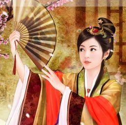 血誓之瞳-秦淮河   名妓李香君身边时时带着一把   绢扇   扇面   是洁白的素绢,上...