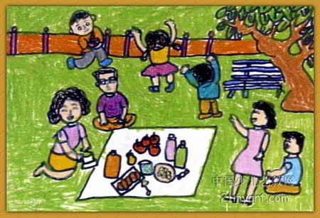 ...笔画_《野餐》图片欣赏_《野餐》儿童画画-简笔画足球图片欣赏