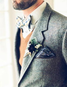 迷人的男士蝴蝶领结