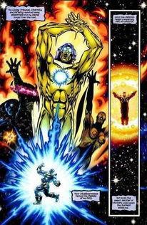 ...联3 中灭霸的无限手套更强的武器 宇宙之心