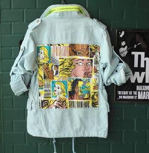 ...013 秋装 童装男童 韩版蓝色 牛仔卡通图案拉链时尚外套