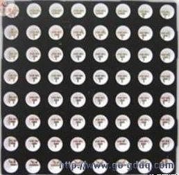 分分彩十选一的规律-由图1和图2可以看出,该全彩点阵模块尺寸为8*8.在该模块中,一个...