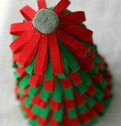 布艺手工制作 漂亮的缎带圣诞树手工制作