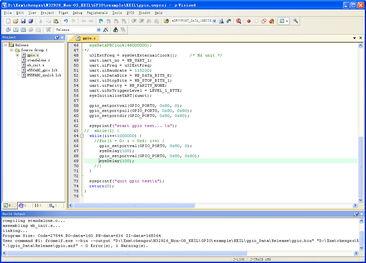 基于MDK32926 EK开发板 基于新唐N32926U1DN 的GPIO例子 KEIL ...
