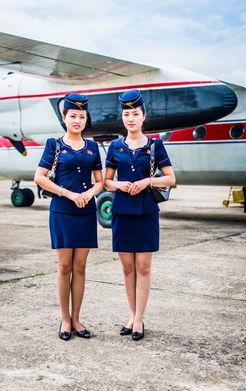 ...014年6月,朝鲜Chilbo,高丽航空公司的空姐.-朝鲜空军现役米格15...