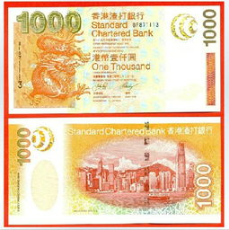 ...年版渣打银行 1000元港币