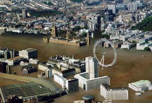 计算机模拟洪水冲毁英国大城市惨况