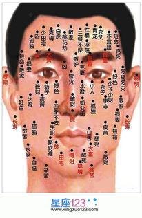 男人脸上痣的位置与命运图2-男痣的位置与命运图